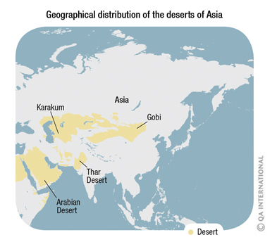 Australia Map Desert.The Deserts Of Asia And Australia Visual Dictionary