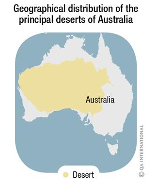 inhabitants of the deserts of australia
