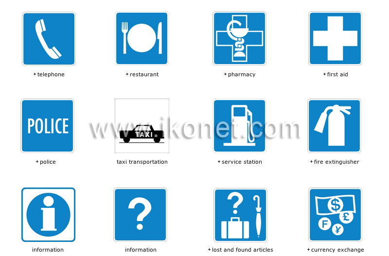 Society City Common Symbols Image Visual Dictionary