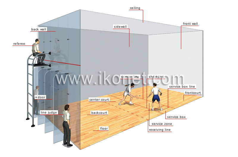 Sports and games racket sports racquetball court for Build a racquetball court