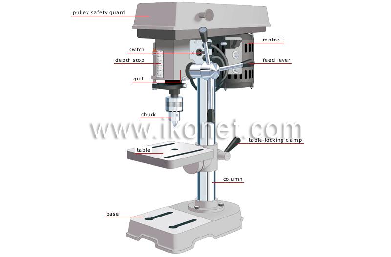 drill press diagram. drill press image diagram