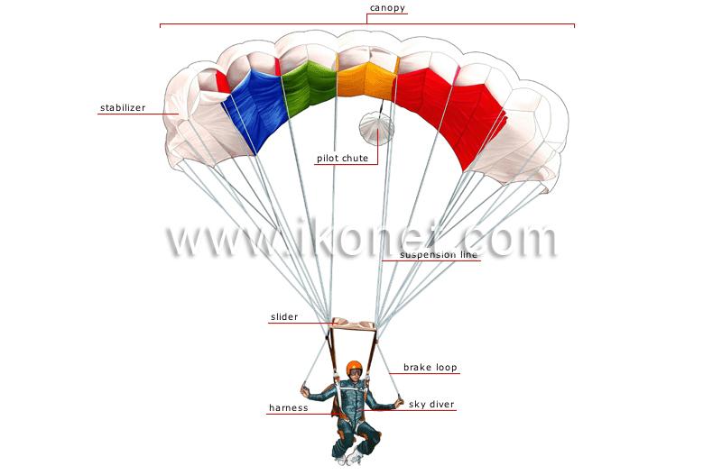 parachute image  sc 1 st  ikonet.com & sports and games u003e aerial sports u003e parachuting u003e parachute image ...