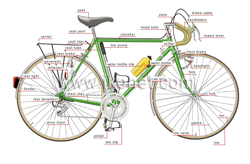 Transport And Machinery Road Transport Bicycle Parts Of A