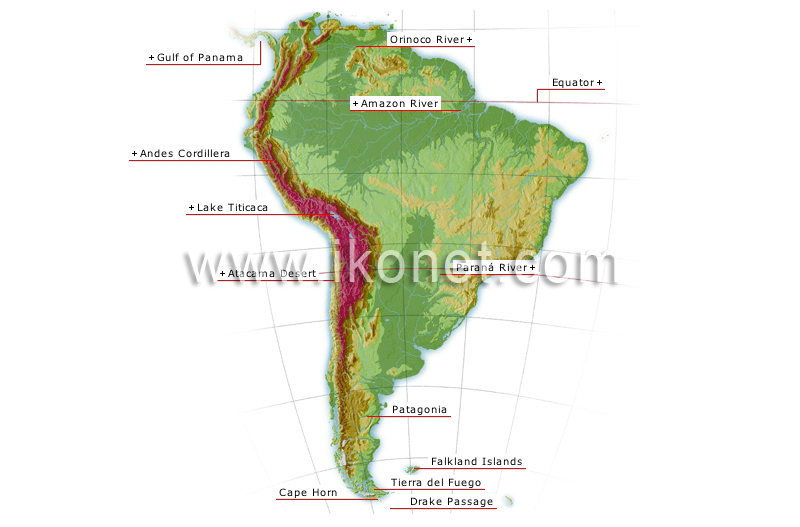Earth Geography Configuration Of The Continents South America
