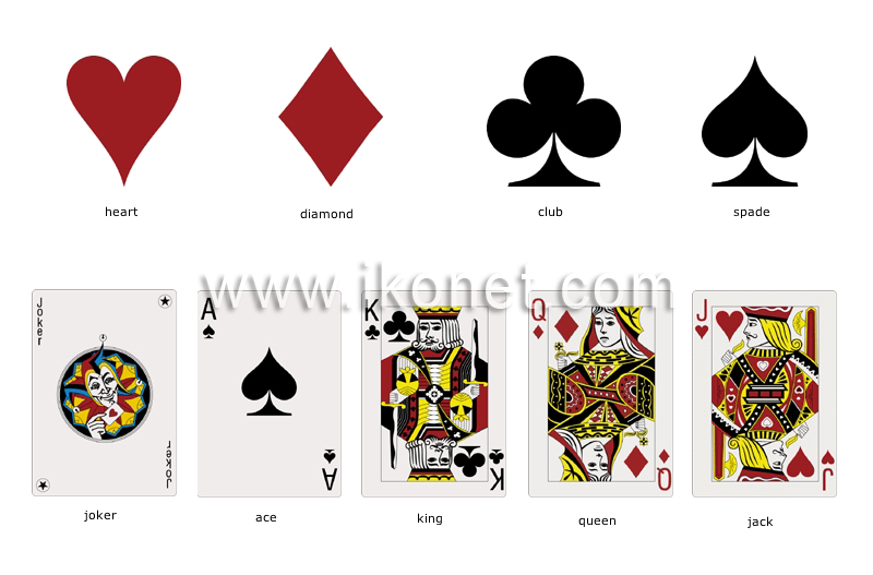 Sports And Games Games Cards Symbols Image Visual Dictionary