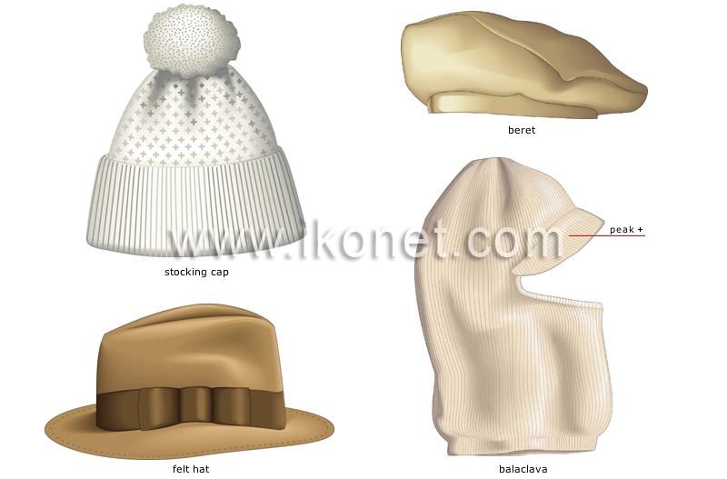 clothing   headgear   unisex headgear image - Visual Dictionary 3ad2e5301bb9