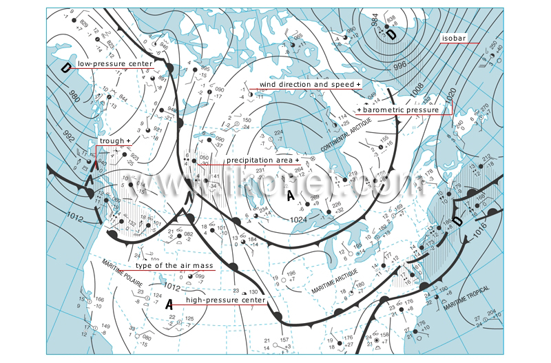 Earth Meteorology Weather Map Image Visual Dictionary