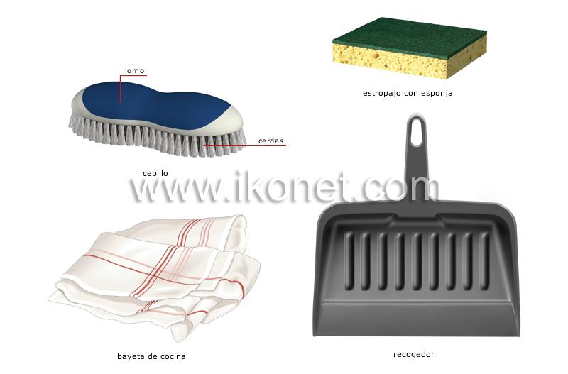 Casa mobiliario para el hogar art culos de limpieza imagen diccionario visual - Articulos de casa ...