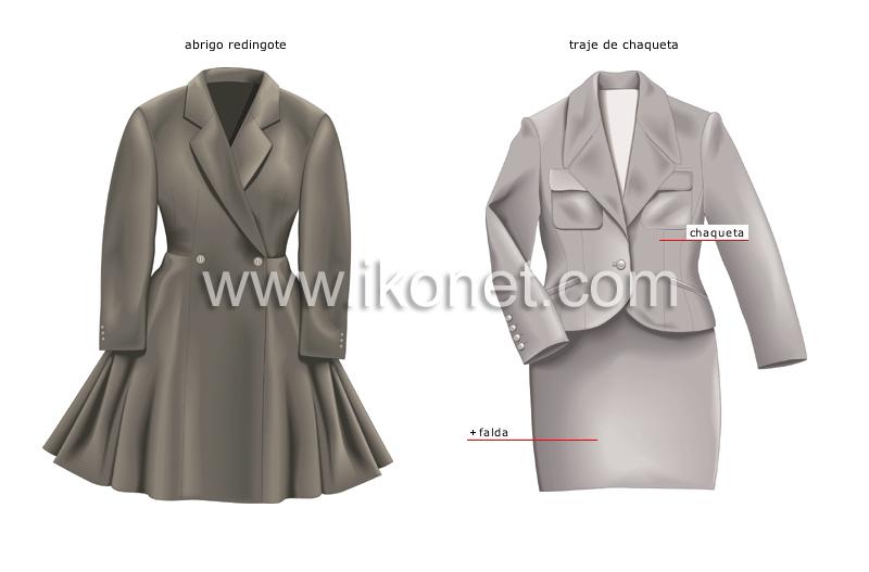 6975b5f4cf vestido   ropa de mujer   chaquetones y abrigos imagen - Diccionario ...