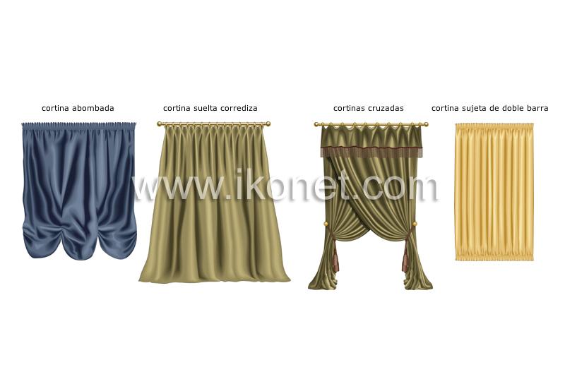 Casa mobiliario para el hogar accesorios para las for Accesorios para colgar cortinas
