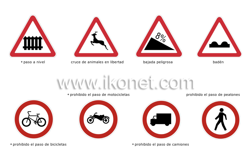 transporte y vehículos > transporte terrestre > señales de ...