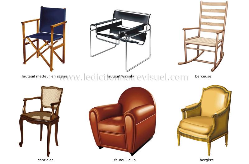 Maison ameublement de la maison fauteuil exemples de for Ameublement de la maison