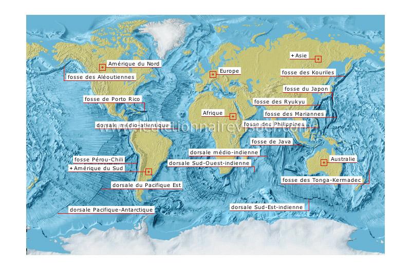 fosses et dorsales océaniques - Le Dictionnaire Visuel