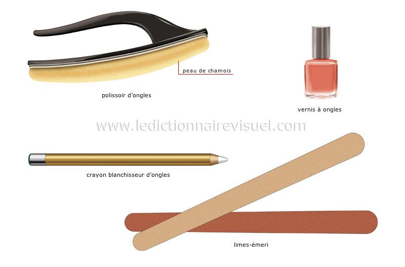 parure et objets personnels parure manucure image dictionnaire visuel. Black Bedroom Furniture Sets. Home Design Ideas