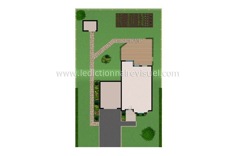 Plan exterieur maison interesting best plan maison for Plan maison exterieur