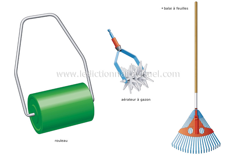 bricolage et jardinage jardinage soins de la pelouse image dictionnaire visuel. Black Bedroom Furniture Sets. Home Design Ideas